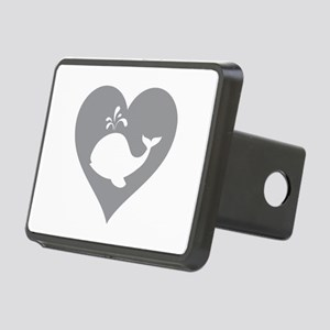 Love whale Rectangular Hitch Cover