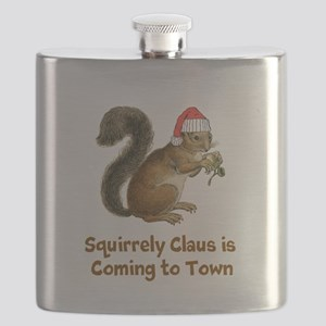 Squirrely claus Flask