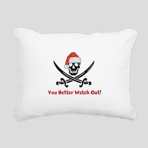 Pirate Claus Rectangular Canvas Pillow