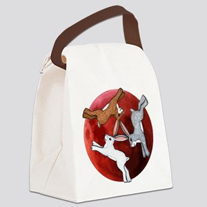 three hares Canvas Lunch Bag