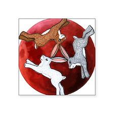 three hares Square Sticker 3