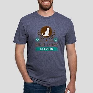 Highlander Cat Mens Tri-blend T-Shirt