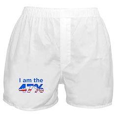 I am the 47% with Obama Logo Boxer Shorts