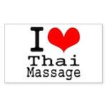 lovethaimassage Sticker (Rectangle 10 pk)