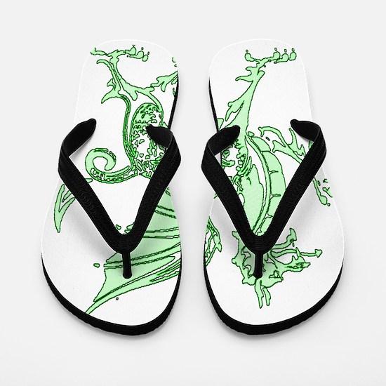Green Dragon Flip Flops