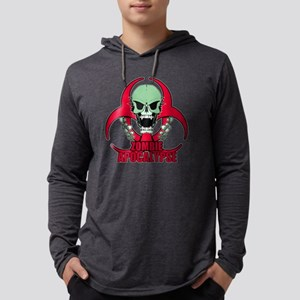 Zombie Apocalypse grn Mens Hooded Shirt