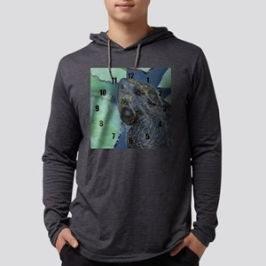 bullfrog clock Mens Hooded Shirt