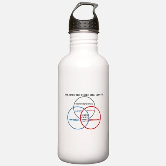 SAY NO TO THE THREE RING CIRCUS! Water Bottle