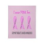 Pink Fighters Survivors Taken 2 Throw Blanket