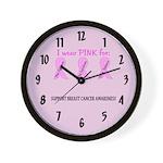 Pink Fighters Survivors Taken 2 Wall Clock