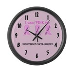 Pink Fighters Survivors Taken 2 Large Wall Clock