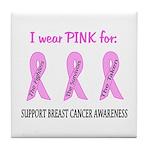 Pink Fighters Survivors Taken 2 Tile Coaster