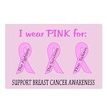 Pink Fighters Survivors Taken 2 Postcards (Package