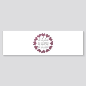 2013 Hearts Calendar Sticker (Bumper)