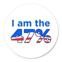 I am the 47% Obama Logo Round Car Magnet