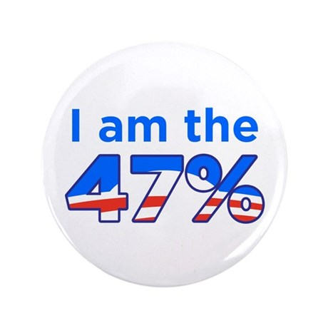 "I am the 47% 3.5"" Obama Logo Button (100 pack"
