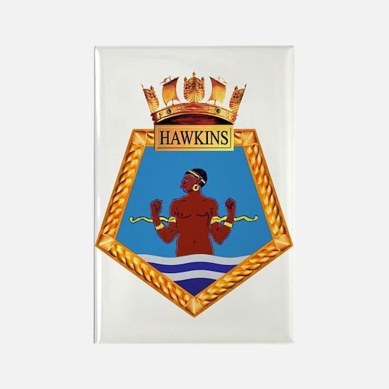 TS Hawkins Rectangle Magnet