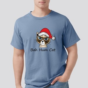 Bah Hum Cat Mens Comfort Colors Shirt
