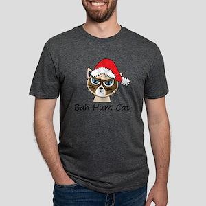 Bah Hum Cat Mens Tri-blend T-Shirt