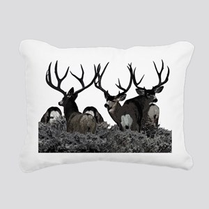 Monster buck deer Rectangular Canvas Pillow