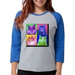 3tile.png Womens Baseball Tee