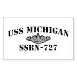 USS MICHIGAN Sticker (Rectangle 10 pk)
