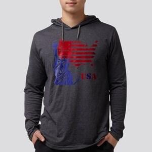 USA Mens Hooded Shirt