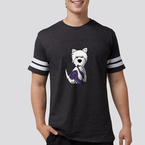 West Highland Terrier Saxophon Mens Football Shirt