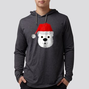 Snow White Christmas Polar Bear Mens Hooded Shirt