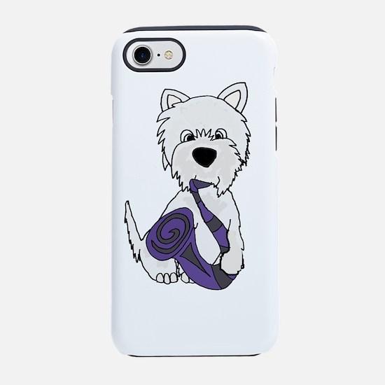 West Highland Terrier Saxophon iPhone 7 Tough Case