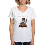 Ask Papabear Women's V-Neck T-Shirt