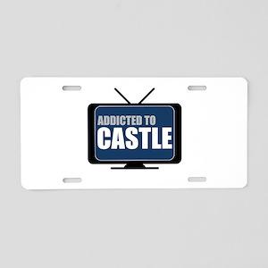 Addicted to Castle Aluminum License Plate