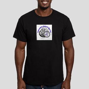 Pancreatic Shield & Warrior Men's Fitted T-Shirt (