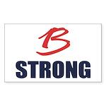 B Strong Sticker (Rectangle 10 pk)