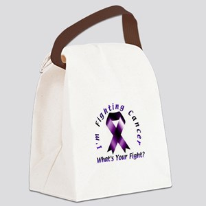 I'm Fighting Cancer Canvas Lunch Bag