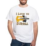 I Love to scroll White T-Shirt