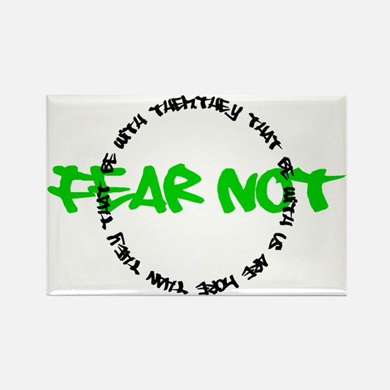 Fear Not Circle Rectangle Magnet