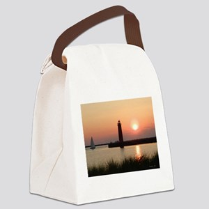 Muskegon Lighthouse 1 Canvas Lunch Bag