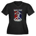 USS BREWTON Women's Plus Size V-Neck Dark T-Shirt