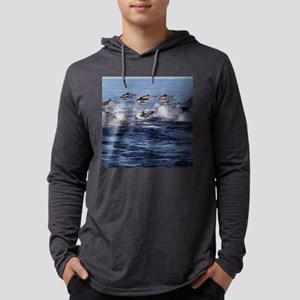 Dolphin Stampede 1 Mens Hooded Shirt