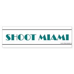 Shoot Miami Photographers Sticker (Bumper)