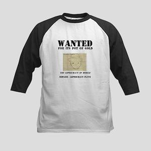 Wanted: Leprechaun Kids Baseball Jersey
