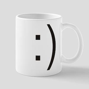 Text Smiley Face Mug