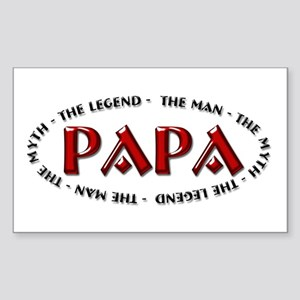 Papa - The Legend Rectangle Sticker