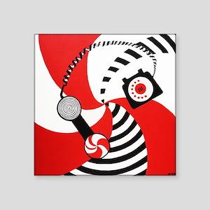"Hypnotize You Baby Peppermint Square Sticker 3"" x"
