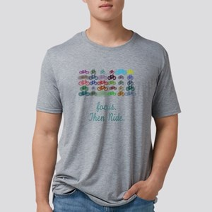 Focus. Then Ride. Mens Tri-blend T-Shirt