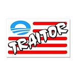 """Traitor: Barack Obama"" Car Magnet 20 x"