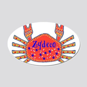 Zydeco Crab 20x12 Oval Wall Decal