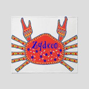Zydeco Crab Throw Blanket