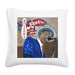 BluesSingerCPtile Square Canvas Pillow